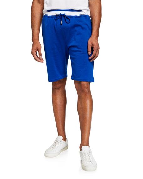 Kiton Men's Contrast-Trim Knit Sweat Shorts