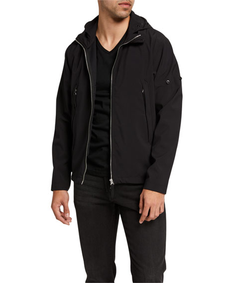Stone Island Men's Zip-Front Hooded Shell Jacket