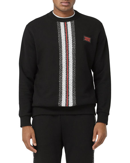 Burberry Men's Monogram-Stripe Sweatshirt