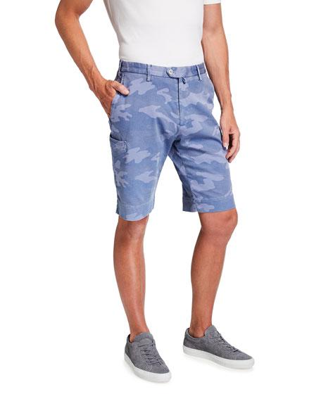 Isaia Men's Sky Camo-Print Bermuda Shorts