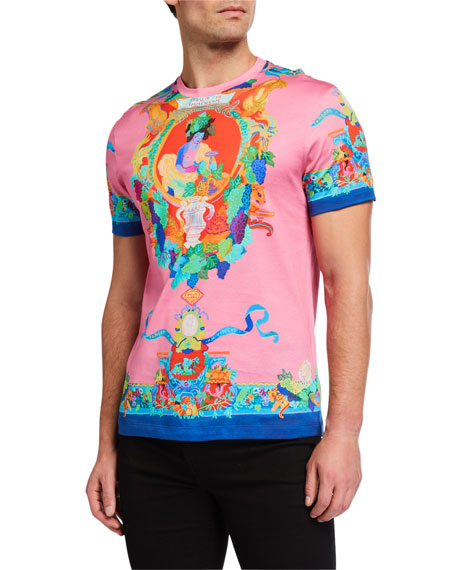 Versace Men's Statue Print Cotton T-Shirt