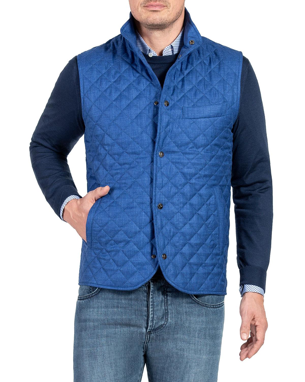 Men's Quilted Snap-Front Vest