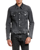 Versace Men's Slim Denim Jacket