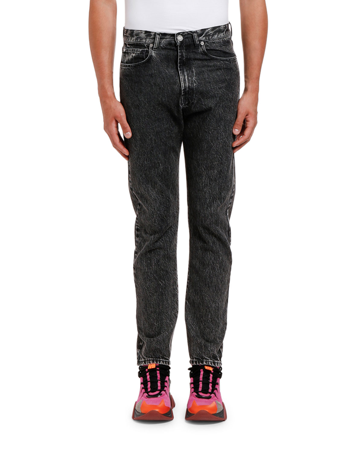 Versace Jeans MEN'S RELAXED WASHED DENIM JEANS