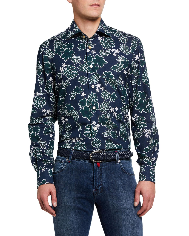 Men's Batik Poplin Sport Shirt