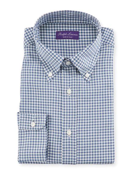 Ralph Lauren Purple Label Men's Gingham Flannel Dress Shirt