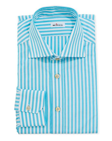 Kiton Men's Bengal Stripe Dress Shirt