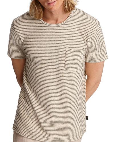 Men's Emmett Striped Pocket Crewneck Tee