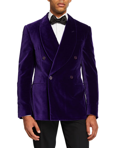 Ralph Lauren Purple Label Men's Double-Breasted Velvet Dinner Jacket, Purple