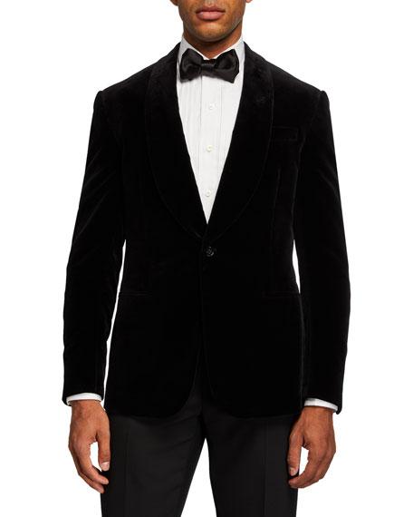 Ralph Lauren Purple Label Men's Solid Velvet Dinner Jacket, Black
