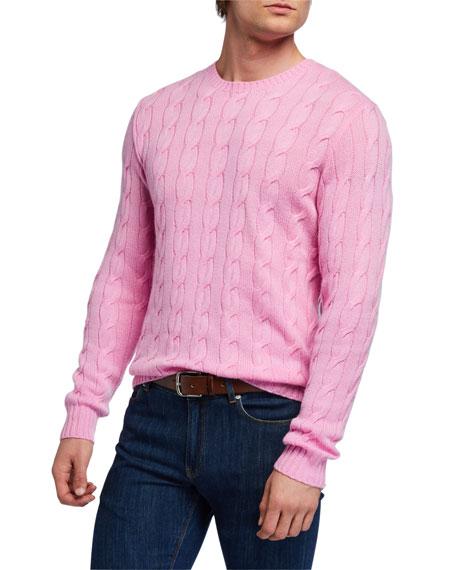 Ralph Lauren Purple Label Men's Cable-Knit Crewneck Sweater