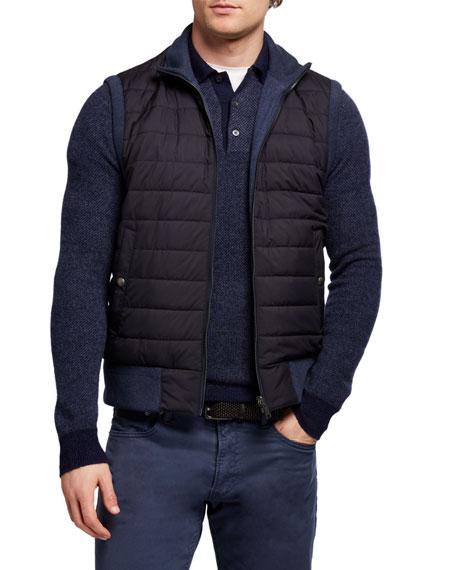 Ralph Lauren Purple Label Men's Quilted Zip-Front Vest