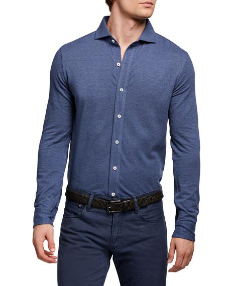 Ralph Lauren Purple Label Men's Washed Pique Sport Shirt
