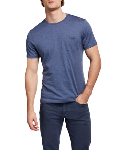 Men's Washed T-Shirt with Pocket