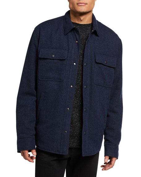 Ralph Lauren Purple Label Men's Solid Wool-Blend Tweed Shirt Jacket