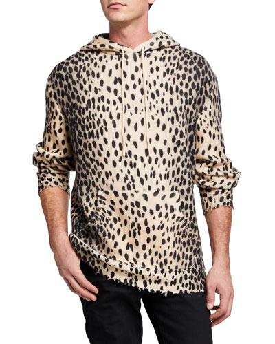 Men's Cheetah Cashmere Hoodie