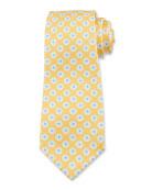 Kiton Men's Flower-Print Silk Tie
