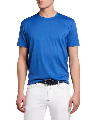 Men's Crewneck Solid Cotton/Cashmere T-Shirt