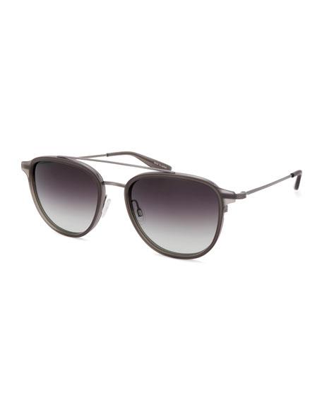Barton Perreira Men's Courtier Titanium Aviator Gradient Sunglasses