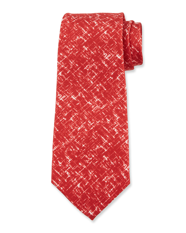 Men's Scratch-Print Silk Tie
