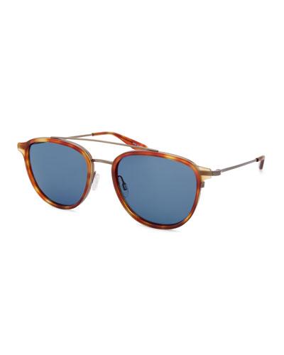 Men's Courtier Titanium Havana Aviator Sunglasses