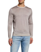 Kiton Men's Crewneck Cashmere Sweater