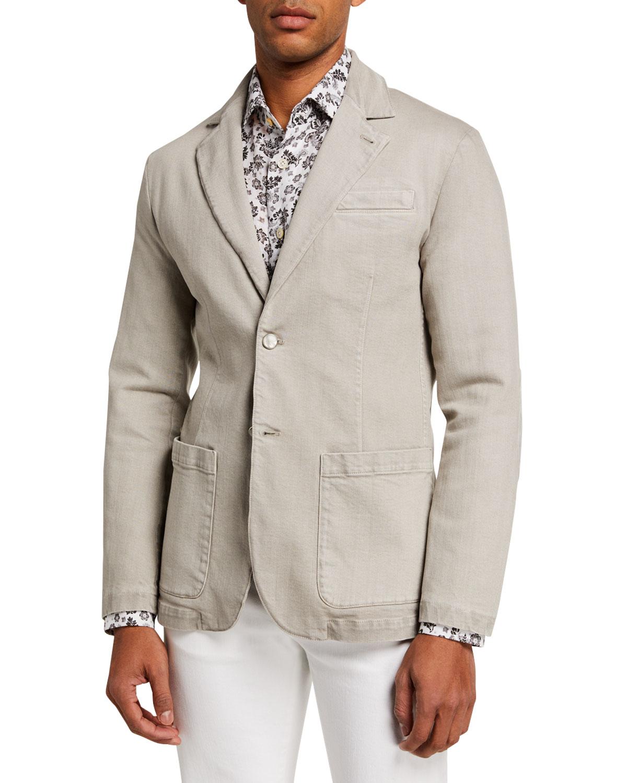 Men's Two-Button Denim Jacket