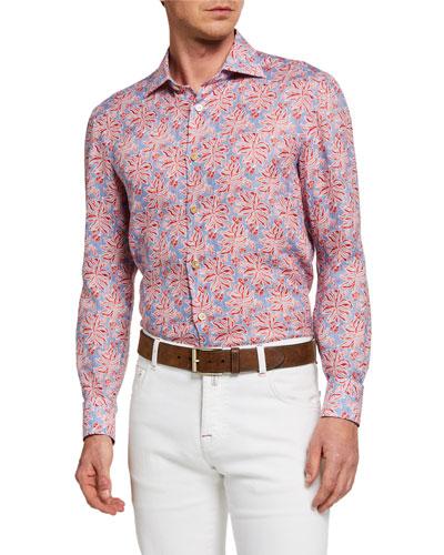 Men's Agave Chambray Linen Sport Shirt