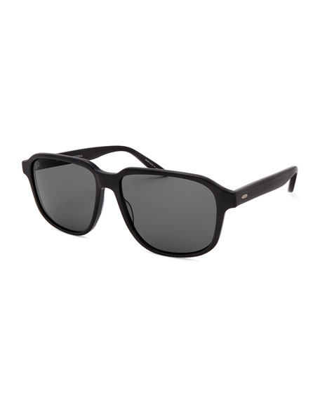 Barton Perreira Men's Rectangle Acetate Polarized Sunglasses