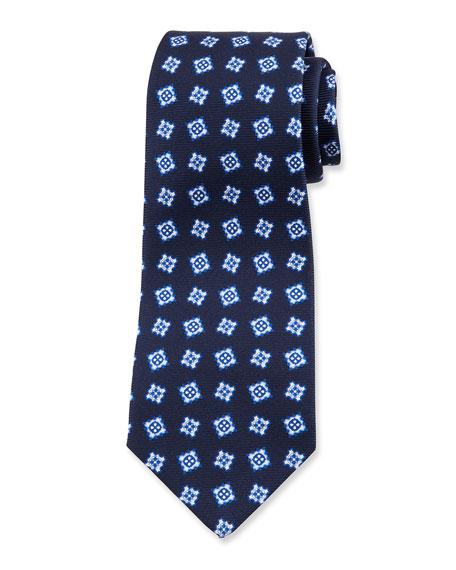 Kiton Men's Fancy Boxes Silk Tie
