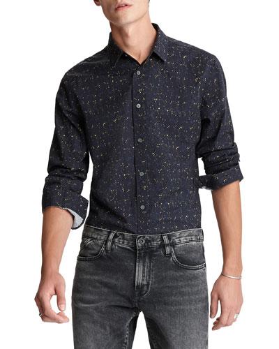 Men's Fulton Slim-Fit Speckled Sport Shirt