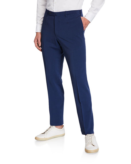 Incotex Men's Wool-Silk Seersucker Pants