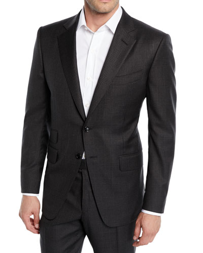 Men's O'Connor Check Wool-Blend Two-Piece Suit