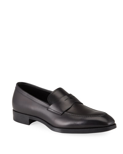 Men's Smooth Leather Penny Loafers