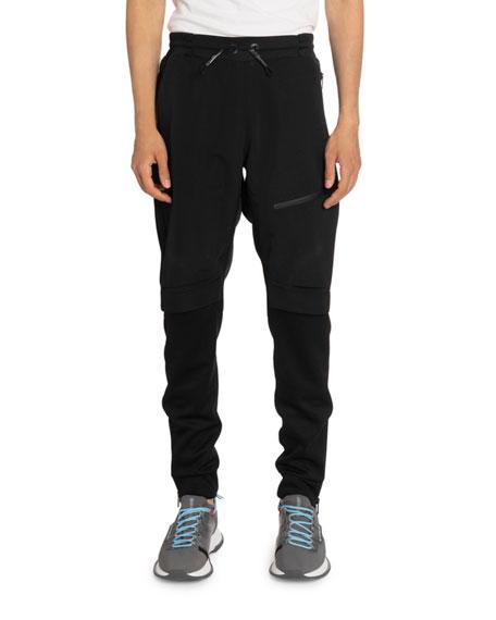 Givenchy Men's Double-Layer Short Jogger Pants