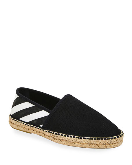 Off-White Men's Striped Canvas Espadrilles