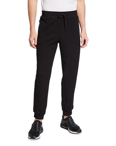 Emporio Armani Men's Hookup Solid Jersey Jogger Pants