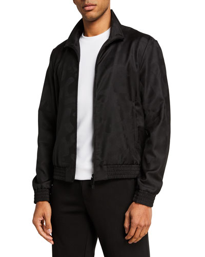 Men's Tonal Camo Bomber Jacket