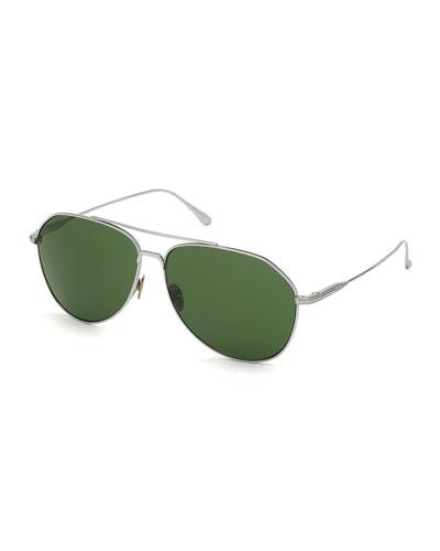 Men's Cyrus Titanium Aviator Sunglasses