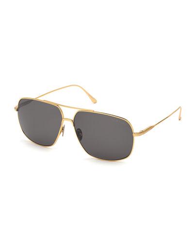 Men's John Square Titanium Sunglasses