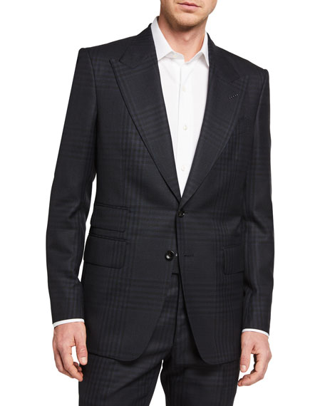 TOM FORD Men's Shelton Check Two-Piece Suit