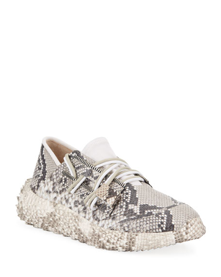Giuseppe Zanotti Men's Snake Urchin Textured Leather Sneakers