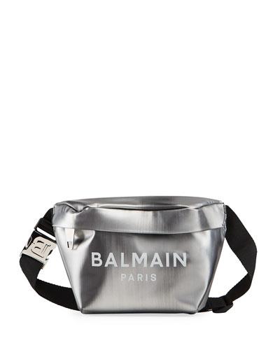 Men's Metallic Logo Belt Bag