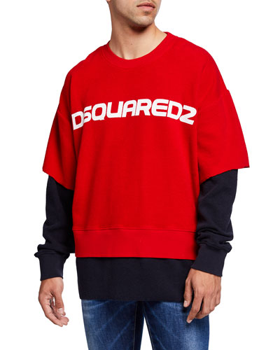 Men's Double-Sleeve Logo Sweatshirt