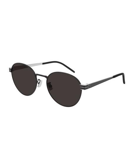 Saint Laurent Unisex Round Metal Sunglasses