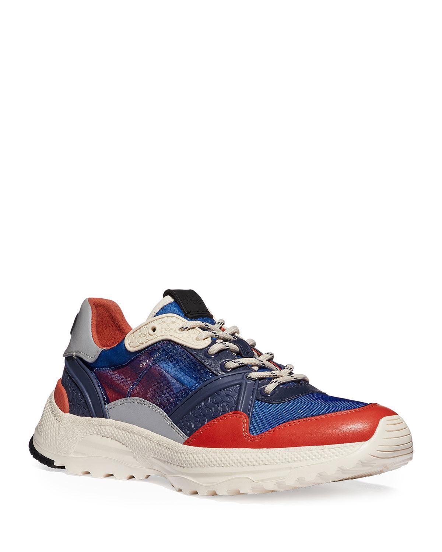 Men's Tech Transparent Colorblock Trainer Sneakers