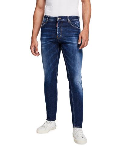 Men's Cool Guy Dark-Wash Skinny Jeans