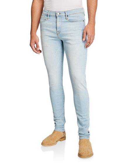 FRAME Men's Jagger Light-Wash Skinny Jeans
