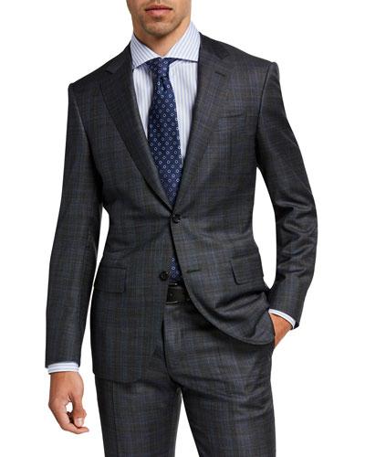 Men's Plaid Wool Suit