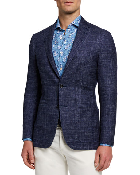 Canali Men's Heathered Two-Button Jacket